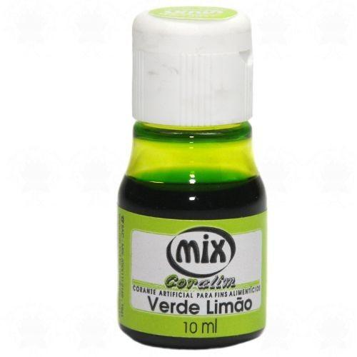 Anilina Líquida Comestível Verde Limão Mix