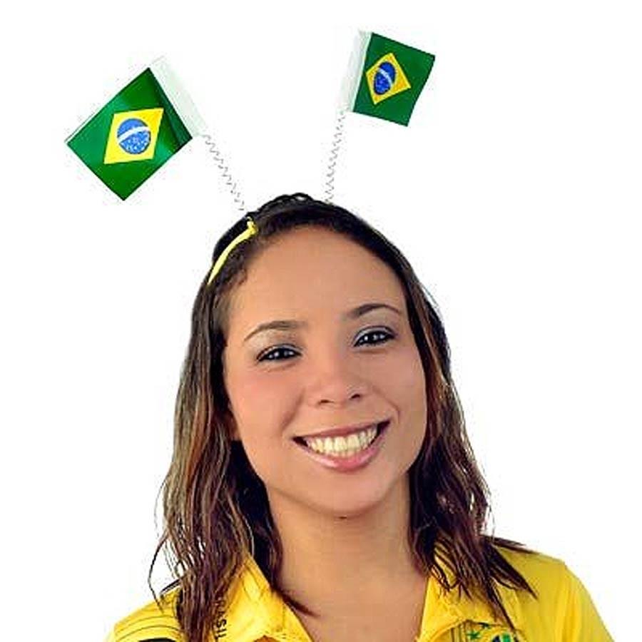 Tiara Bandeira do Brasil em Tecido